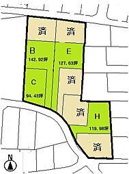 高崎市金古町全9区画分譲地E 高崎市立金古小学校・群馬中央