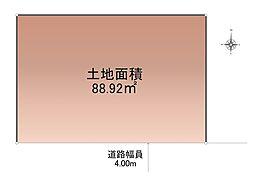 「江戸川区中央」南側道路に面した宅地
