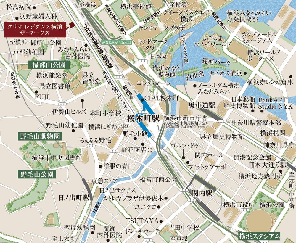 クリオ レジダンス横濱ザ・マークス:案内図