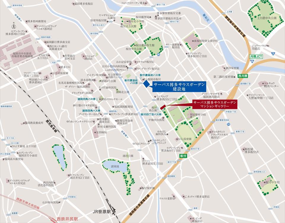サーパス博多サウスガーデン:モデルルーム地図