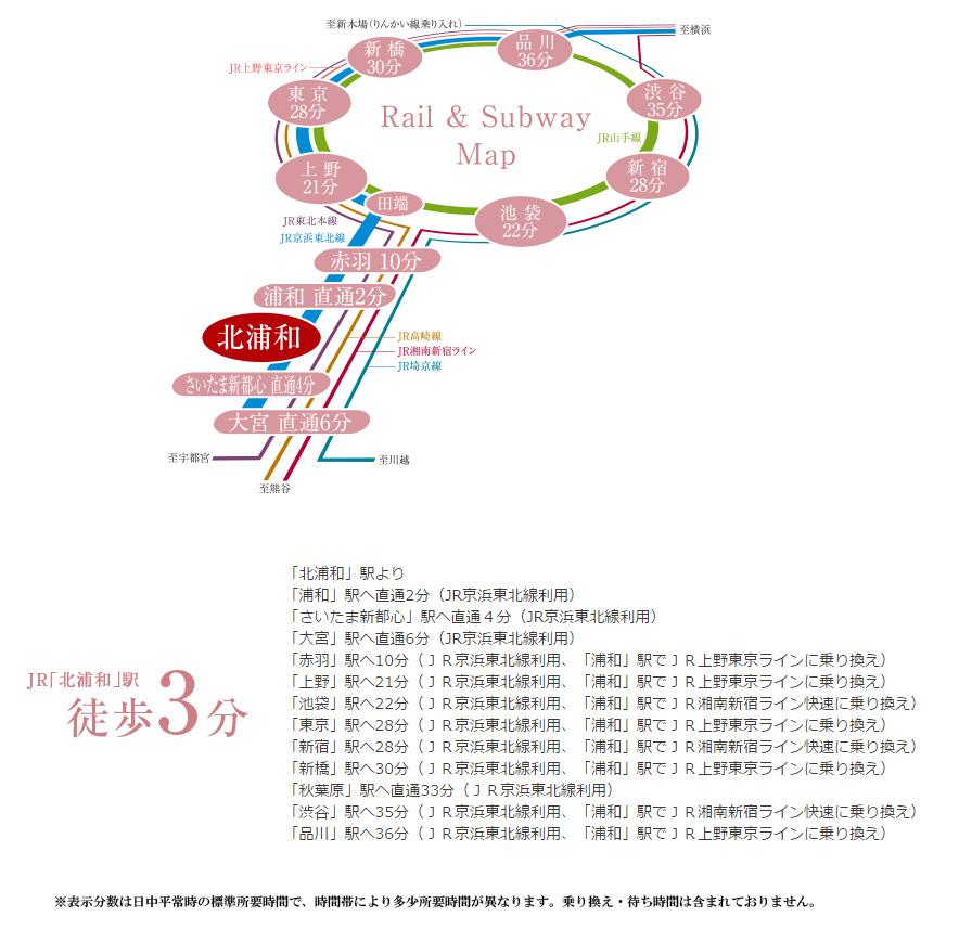 プレシス浦和常盤ヴィアラ:交通図