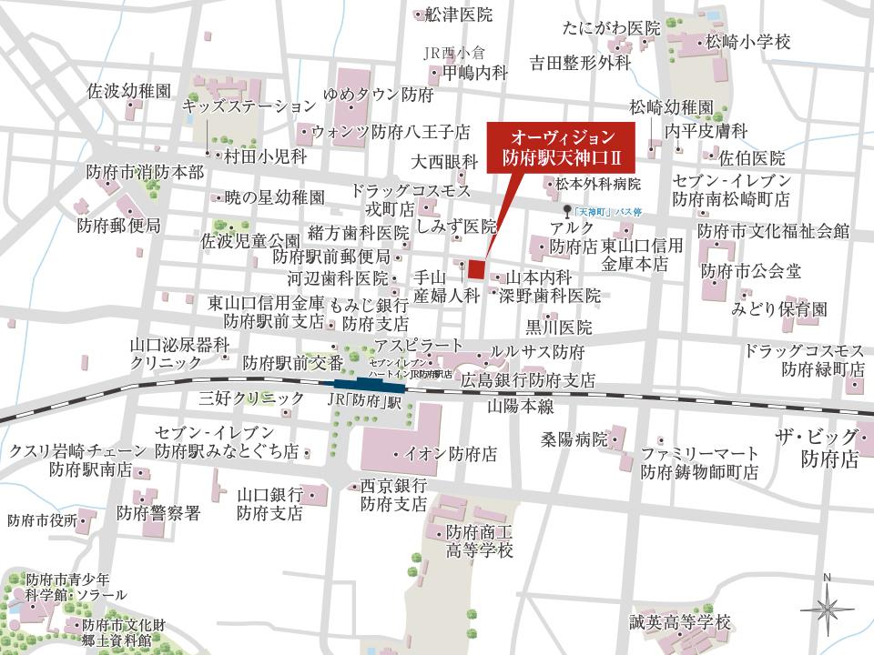 オーヴィジョン防府駅天神口II:案内図