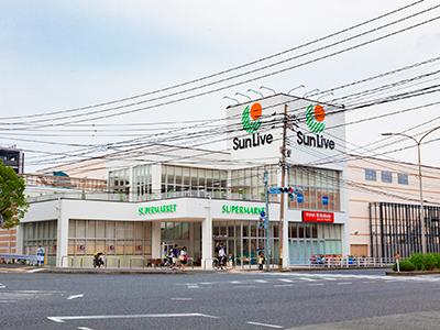 サンリブ折尾店 約750m(徒歩9分)
