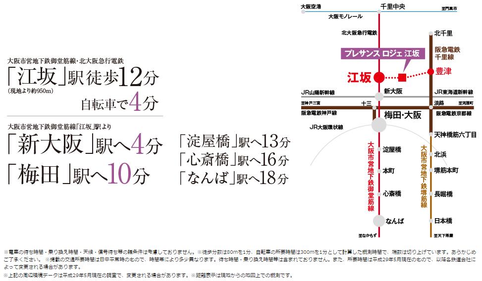 プレサンス ロジェ 江坂:交通図
