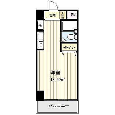 マンション(建物一部)-広島市南区大州2丁目 間取り