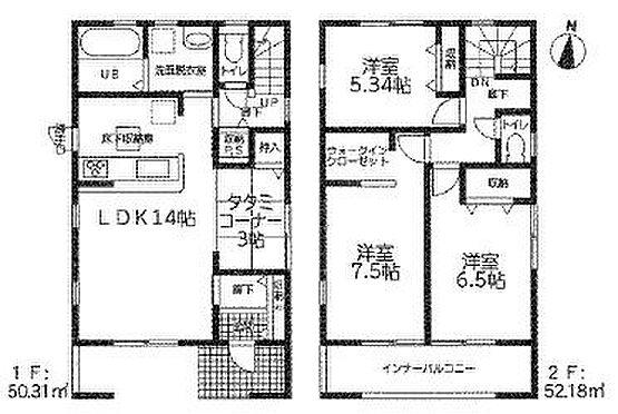 新築一戸建て-知多郡東浦町大字緒川字屋敷壱区 間取り図です!