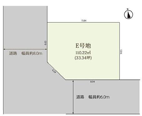 土地-大阪市東成区深江南2丁目 区画図