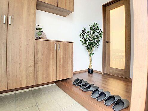 戸建賃貸-碧南市新道町4丁目 明るく清潔感溢れる玄関、収納も豊富です。