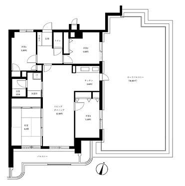 マンション(建物一部)-福岡市南区寺塚2丁目 4LDK