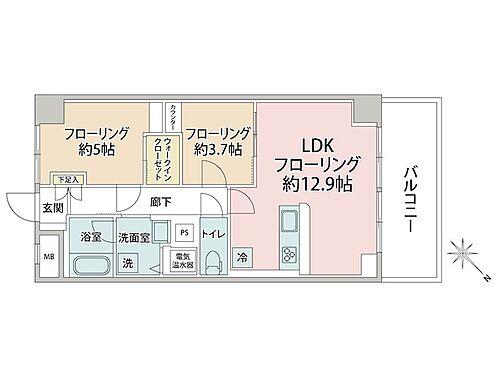 中古マンション-大田区大森北1丁目 間取り