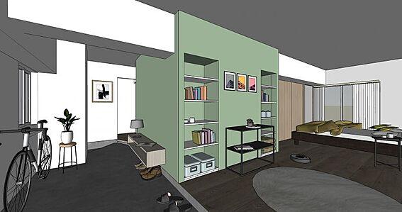 中古マンション-名古屋市守山区金屋2丁目 リフォーム完成後イメージパースです。