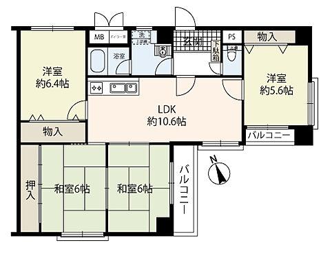 区分マンション-大阪市中央区南新町2丁目 間取り 4LDK