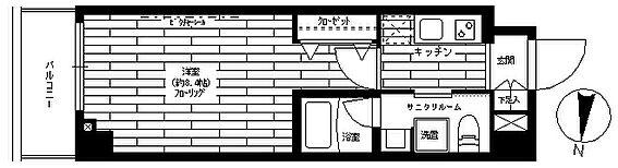 マンション(建物一部)-大田区矢口3丁目 間取り