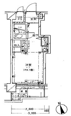 マンション(建物一部)-大田区中央7丁目 間取り