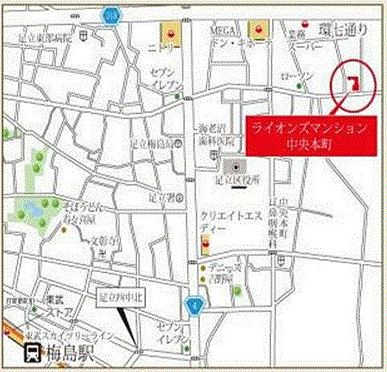 店舗事務所(建物一部)-足立区中央本町5丁目 地図