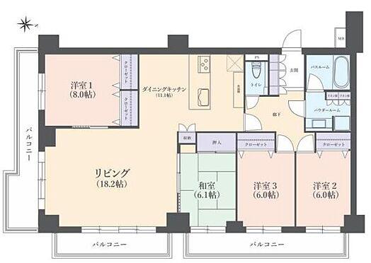 区分マンション-横浜市中区打越 間取り