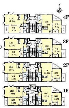 マンション(建物全部)-名古屋市熱田区横田1丁目 間取図 現況優先