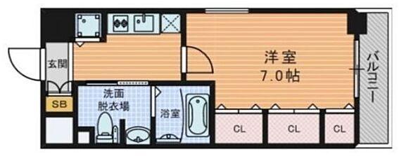 マンション(建物一部)-大阪市中央区南船場1丁目 収納が充実した単身者向け1K
