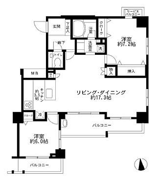 中古マンション-江東区東砂7丁目 間取り