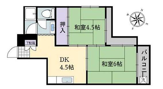区分マンション-神戸市兵庫区三川口町2丁目 間取り