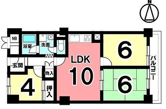 中古マンション-橿原市栄和町 最上階からの眺望をお楽しみ頂けるお部屋です。2012年2月に全室クロス貼替、LDKフローリング貼替、浴室とトイレ新調等リフォームされております。