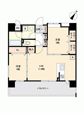 マンション(建物一部)-福岡市博多区吉塚5丁目 間取り