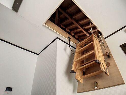 戸建賃貸-豊明市栄町大蔵下 小屋根裏収納への階段。2階リビングからのぼれます。