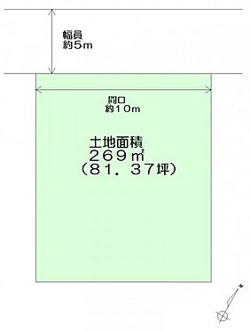 土地-仙台市青葉区芋沢字横手 区画図