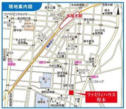 店舗事務所(建物一部)-厚木市旭町5丁目 地図