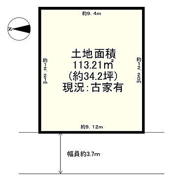 土地-茨木市総持寺1丁目 区画図