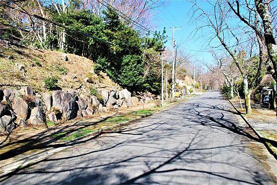 土地-熱海市西熱海町2丁目 「道路」対象地は別荘地の中でも比較的フラットで道路幅も広いところになります。