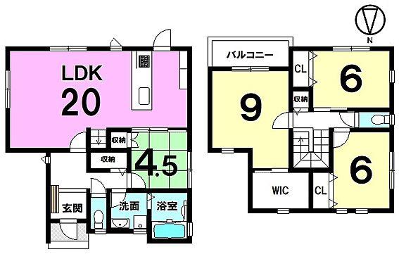 戸建賃貸-磯城郡田原本町大字阪手 20帖の大きなLDKを是非ご覧下さい!ご家族が顔を合わせやすいリビング階段を採用しております。収納スペースも豊富に確保。並列で2台駐車可能です。