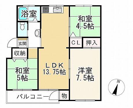 中古マンション-神戸市垂水区神陵台2丁目 間取り