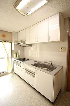 中古マンション-橿原市白橿町5丁目 2003年に食器洗浄乾燥機完備のシステムキッチンへ新調されております。吊戸棚があり、納得の収納力!沢山の調理器具もしっかり整理して頂けます。