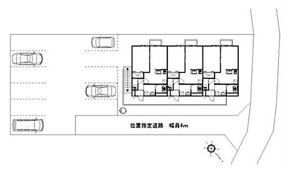 アパート-八街市榎戸 配置図