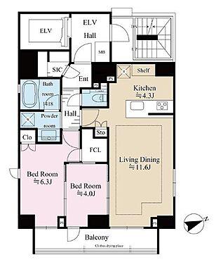 マンション(建物一部)-港区西新橋3丁目 ワンフロア1住戸の独立型住戸。東×南×北の三方角部屋です。