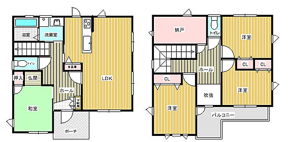 中古一戸建て-半田市平地町2丁目 2階には4帖ほどの広い納戸がございます