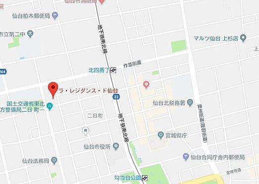 マンション(建物一部)-仙台市青葉区二日町 地図