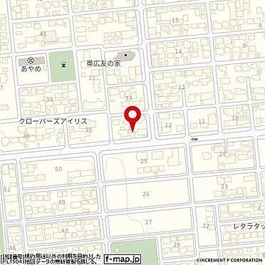 アパート-帯広市西十七条南3丁目 地図
