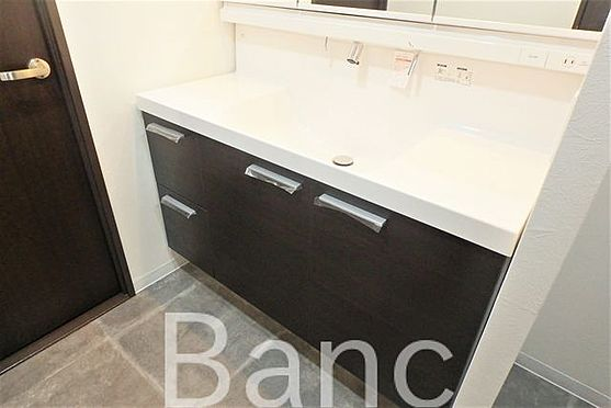 中古マンション-豊島区西巣鴨1丁目 使い勝手のいい洗面台です照明、コンセントもついています