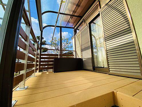 中古一戸建て-糟屋郡志免町田富2丁目 2020年に設置したウッドデッキ!お洗濯を干すスペースに最適です!
