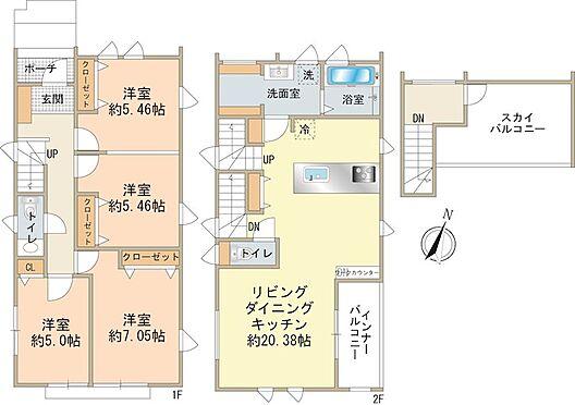 新築一戸建て-八王子市堀之内2丁目 3LDK・112.40m2