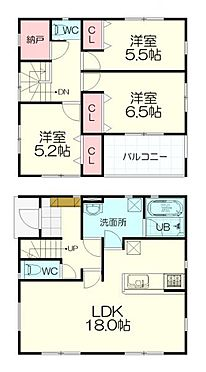 新築一戸建て-仙台市太白区西多賀5丁目 間取り