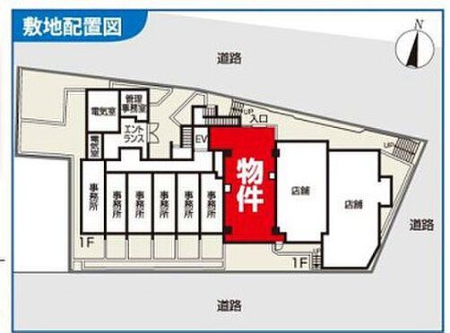 店舗(建物一部)-横浜市中区石川町3丁目 敷地配置図
