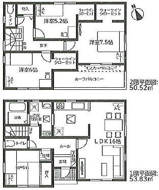 新築一戸建て-名古屋市南区元鳴尾町 間取り