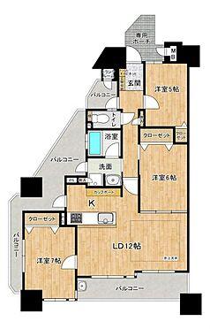 区分マンション-名古屋市西区貴生町 使いやすい3LDK。3面バルコニーで日当たり良好です。