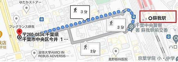 一棟マンション-千葉市中央区今井1丁目 地図