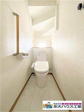 新築一戸建て-仙台市太白区富田字上野東 トイレ