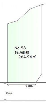 土地-多賀城市浮島字西沢 区画図