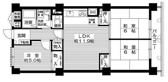 マンション(建物一部)-大阪市西淀川区歌島3丁目 ファミリーにおススメの3LDK